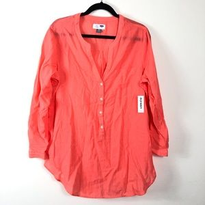 Old Navy Coral Tunic Size XL NWT